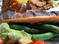 Trucha al pesto con verduras en thermomix,