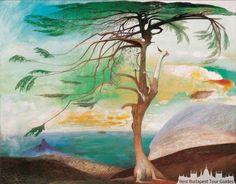 The Lonely Cedar, Tivadar Kosztka Csontvary, Big tree painting art print, Antique Nature wall art, S Art Prints, Art Painting, Nature Wall Art, Artist Inspiration, Fine Art Paper, Wall Art, Tree Painting, Painting, Paintings Art Prints
