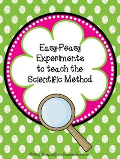 This packet contains seven easy (even for the scientifically challenged!)science experiments that can be used to teach the nature of science and th...
