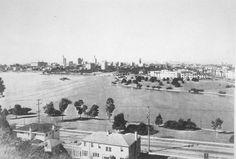Oakland skyline from Lake Merritt (ca. 1926)