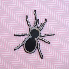 2 Patch écusson toile d/'araignée  noir rose gothique
