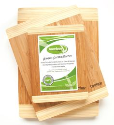 Premium 3 Piece Bamboo Cutting Boards by Bamboo Style®. Eco-friendly Kitchen Chopping Boards Made to Last!