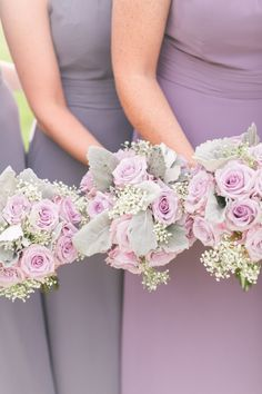 Lavender rose and lamb's ear wedding bouquets: Floral Design: Allure Floral Design - http://www.stylemepretty.com/portfolio/allure-floral-design Photography - Assistance: Cassady Adams - www.cassadykphotography.com/ Wedding Photographers: Mekina Saylor Weddings - mekinasaylor.com   Read More on SMP: http://www.stylemepretty.com/2017/01/17/from-friend-zone-to-the-prettiest-happily-ever-after/