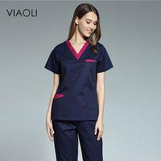 Viaoli 2017 new women's short-sleeved medical scrub uniform Pants For Women, T Shirts For Women, Clothes For Women, Cheap Scrubs, Scrubs Uniform, Medical Uniforms, Medical Scrubs, Female Doctor, Pant Shirt