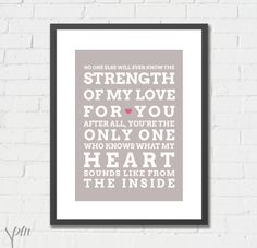 Art Print - Strength of My Love for You - Etsy