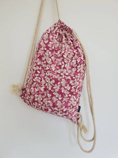 Drawstring Backpack, Backpacks, Floral, Bags, Fashion, Handbags, Moda, Fashion Styles, Flowers