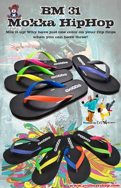 090656e32a4d BM31 Mokka Bear slippers Flip Flops model BM31 (Mokka Hip Hop) The Concept  is