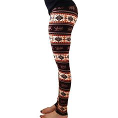 Womens High Waisted Christmas Reindeer Printed Leggings Red ($12) ❤ liked on Polyvore featuring red