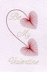 Valentine! ... such a sweet card to stitch ... and a very popular request too ..!