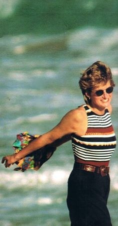 Love her playfulness Hello Magazine - Princess Diana Remembered Princess Diana Fashion, Princess Diana Pictures, Princess Diana Family, Royal Princess, Lady Diana Spencer, Princesa Diana, Kate Middleton, Hello Magazine, St Barts