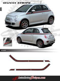 Fiat 500 2007-2015 Front Fender Side Stripes Decals Choose Color