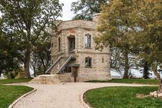 Live in a labour of love: miniature Buckinghamshire castle from the latest series of Grand Designs goes up for sale Larch Cladding, Unusual Buildings, Tower Building, Unusual Homes, Grand Designs, Water Tower, Medieval Castle, Industrial House, Countryside