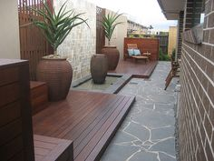 Do you have an unusual space can't think of what to do or build here's a little something we came up with . Leisure Decking