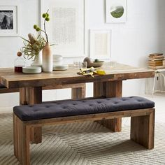 "$600, 73"" long Emmerson™ Reclaimed Wood Dining Bench 