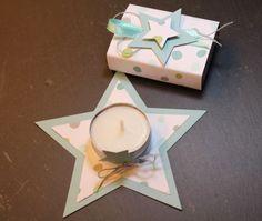 Kerze und Streichholzschachtel im gleichen Look, Stampin Up, Weihnachtsgeschenke, Big Shot, Sternstanze