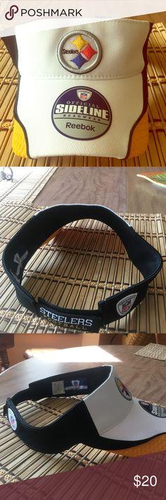 Pittsburgh Steelers Visor Never worn NFL official Visor. Always willing to negotiate. Reebok Accessories Hats