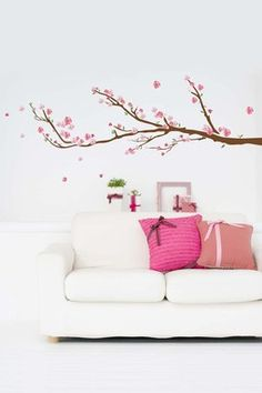 Cherry Blossoms Removable Wall Decal Set