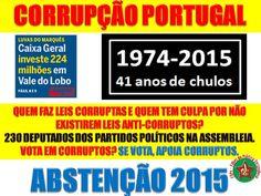 A FALÁCIA DO VOTO - VOTAR EM CORRUPTOS ESTÁ ERRADO https://fdpv.wordpress.com/2015/08/24/eleicoes-legislativas-a-falacia-do-voto/…