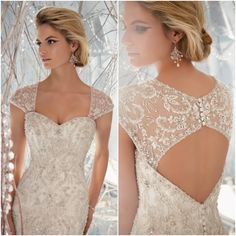 I'm obsessed with beaded wedding gowns, and if you've chosen such a dress, you'll not only look striking but also will be in trend! Mod Wedding, Wedding Bells, Dream Wedding, Bridal Gowns, Wedding Gowns, Yes To The Dress, Wedding Wishes, Beautiful Gowns, Gorgeous Dress
