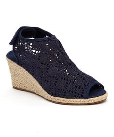 Look at this Navy Summus Espadrille on #zulily today!