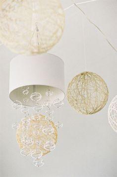 string lanterns hung
