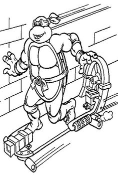 teenage mutant ninja turtles kids coloring pages and free colouring pictures tmnt
