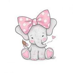Elefante - Wallpaper's World Baby Elephant Drawing, Baby Animal Drawings, Cute Baby Elephant, Cute Baby Animals, Cute Baby Drawings, Drawings Of Elephants, Baby Elephants, Baby Elephant Tattoo, Cute Drawings Of Animals
