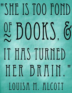 She Is Too Fond Of Books Wall Decal My mom gave me an ornament with this saying!