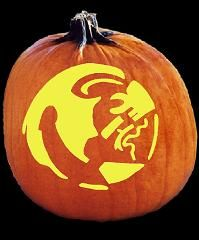 SpookMaster Florida State Seminoles College Football Team Pumpkin Carving Pattern