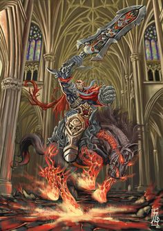 WAR darkness fall by earache-J on DeviantArt Darksiders Horsemen, Darksiders Death, Darksiders Game, Fantasy World, Fantasy Art, Dark Siders, World Of Warcraft Gold, Horsemen Of The Apocalypse, Savage Worlds