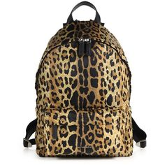 Givenchy Small Leopard-Print Nylon Backpack ($924) ❤ liked on Polyvore featuring bags, backpacks, apparel & accessories, leopard, leopard backpack, pocket bag, pocket backpack, knapsack bags and rucksack bag