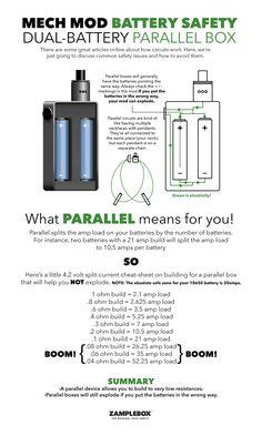 Mech Mod Battery Safety Dual Battery Parallel Box