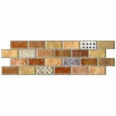 Merola Tile, Mosaico Valise 3-3/4 in. x 11-1/4 in. Ceramic Wall Tile, WDCMV2S at The Home Depot - Mobile