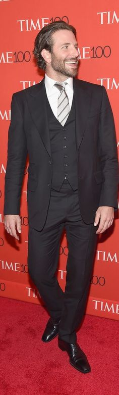 Bradley Cooper's suit at the Time 100 gala