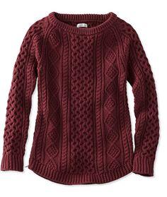 $88 LL Bean Signature Cotton Fisherman Tunic Sweater