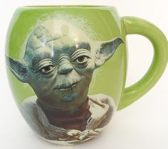 Star Wars Coffee Mug Cup Yoda May the Force Be With You Green Oversized 20 oz.