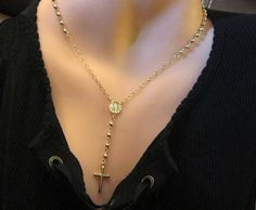 Gold Rosary Necklace QUALITY 14kt Gold Filled by PowersThatBead