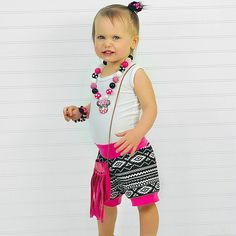 Sweet girl rocking my Tribal and Pink Cuff Shorts!  Have you gotten yours yet!?