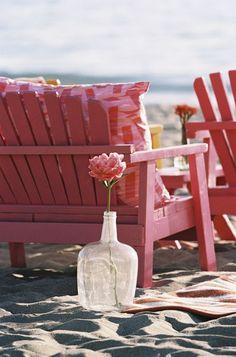Beach wedding ceremony - single flower Photography Braedon Flynn
