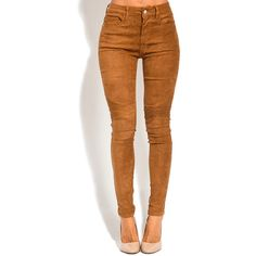 Carmine Red Paris Beige Moto Skinny Pants (1,480 MXN) ❤ liked on Polyvore featuring pants, tall pants, skinny trousers, beige pants, biker pants and brown stretch pants