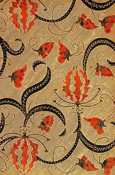 hand drawn batik on cotton, 'kembang sungsang'; jakarta, indonesia