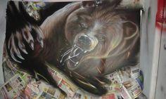 Bear airbrush