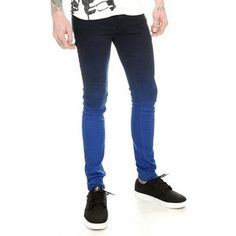 hot topic jeans | shop clothing jeans skinny jeans hot topic rude blue ombre skinny fit ...