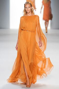 Elie Saab at Paris Fashion Week Spring 2012 - Runway Photos Fashion Week, Runway Fashion, Fashion Show, Fashion Design, Paris Fashion, Mode Orange, Elie Saab Printemps, Vestido Dress, Elie Saab Spring