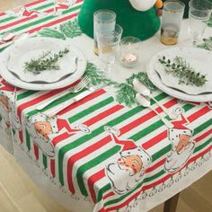 Santa Bells Tablecloth