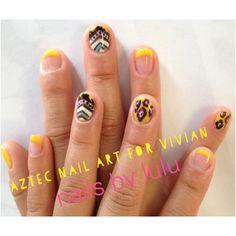 Aztec nail art by lulu