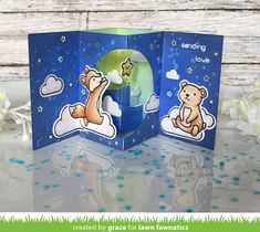 Pop Up Box Cards, 3d Cards, Lawn Fawn Stamps, Window Cards, Interactive Cards, Scrapbook Cards, Scrapbooking, Picture Cards, Happy Colors