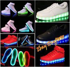 Unisex Con Luz Led Luminoso Zapatos Cargador Usb De lazada Sportswear Zapatillas