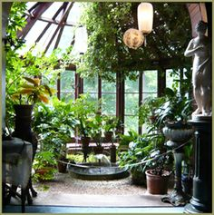 Conservatory, Mark Twain House, Interior, Hartford, Connecticut, USA