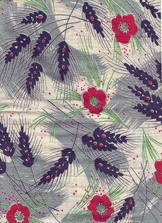 Feedsack with grain print - #textile